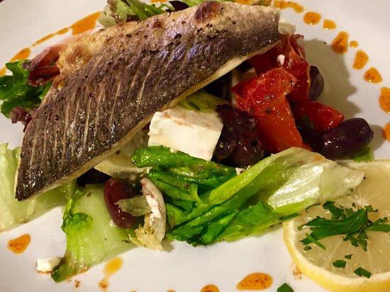 Elloughton, UK: Seabass (sometimes on the Specials board)