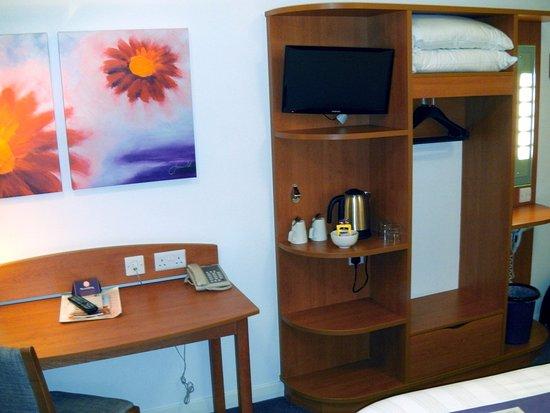 Premier Inn London Gatwick Airport North Terminal Hotel Room Tv Desk
