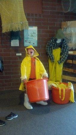 Texas Seaport Museum: huge bucket of fish