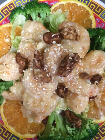 San Andreas, Kaliforniya: Honey walnut shrimp