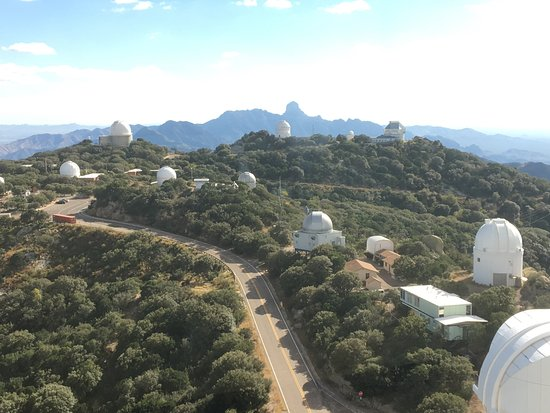 Sells, AZ : The many Observatories at Kitt Peak. Photo taken from the observation deck of the large Observat