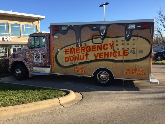 Hurts Donut: I don't think the siren works, but the donuts here are great!