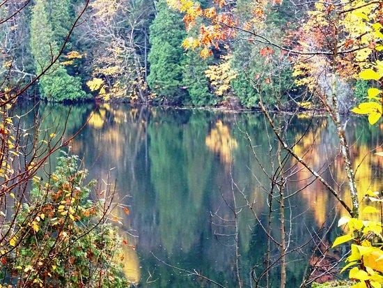 Saint-Elie-de-Caxton, Canada: Le Lac Bell à proximité de la station