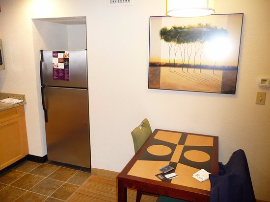 Dining table and refrigerator - Picture of Residence Inn ...