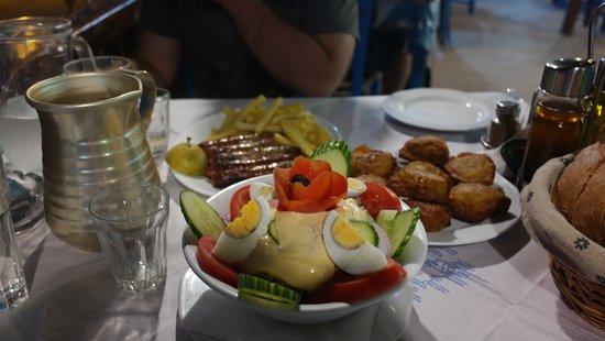 Agia Roumeli, Grecia: tuna salad