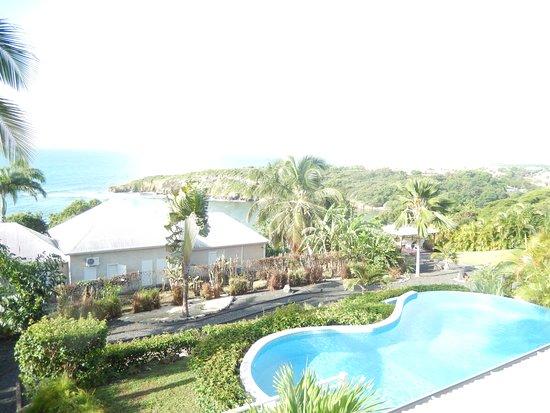 Hotel Amaudo: Vue de notre chambre, Suite au rez de chaussée avec piscine privée.