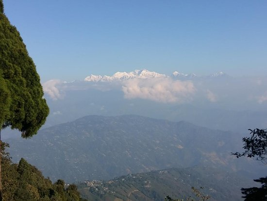 Lepchajagat, Inde : view of Kanchenjunga from roof