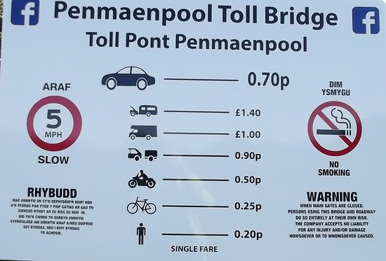 Penmaenpool, UK: Price list