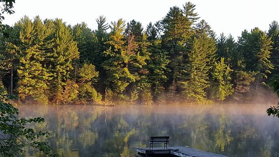 Eagle River, WI: view from tables of cabin 9-10