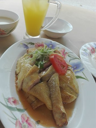 Chicken Rice With Lime Juice Picture Of Kampung Chicken Eating