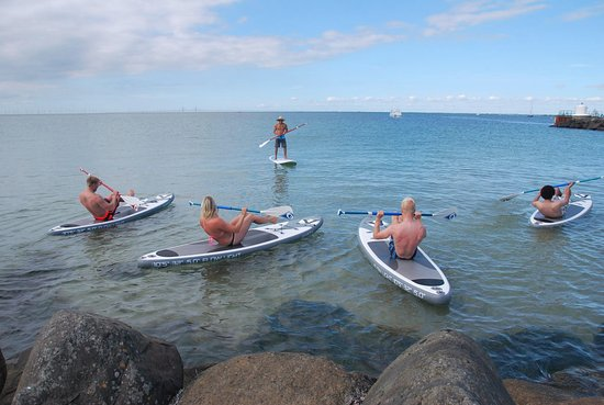Vellinge, Sweden: Stand Up paddle  fitness  group