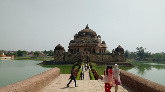 Sasaram, India: A tomb dedicated to the great emperor Sher Shah Suri
