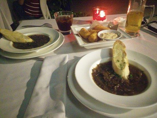 The Brasserie: onion soup & starters