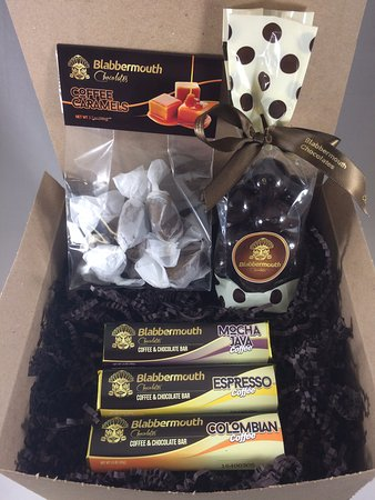 Lincoln, CA: $20 Gift pack- 3 pack of Caffeinated bars, Coffee Caramel & triple dipped Malted Balls.