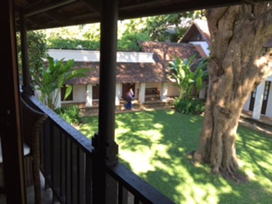 Tamarind Village: Looking down to the courtyard