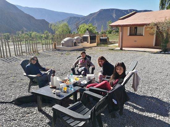 Mirador del Virrey, Cabanas Boutique: Desayuno afuera
