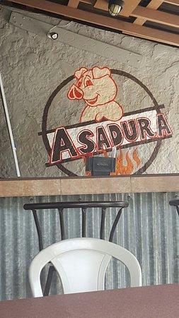Asadura: Pork  chunk, sign, pork chunk with tostone, pork chop and pigeon rice