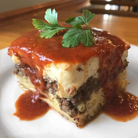 Zachary's Restaurant: Pastitsio special made by Zachary! Incredible!