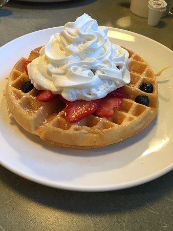 Haverhill, MA: Red,white & blue belgian waffle