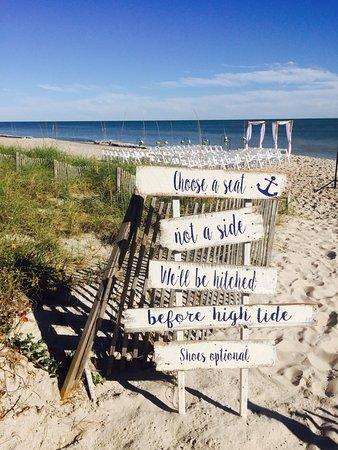 Ocean S Edge Restaurant Event Center Our Unique Beach Wedding Sign