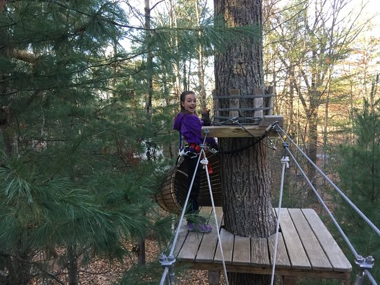 Storrs, CT: Having a blast in the trees.