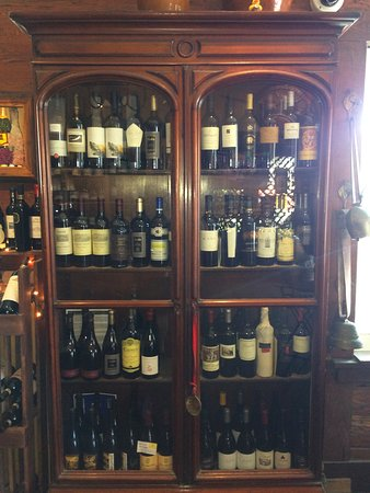 Higher end wine selection