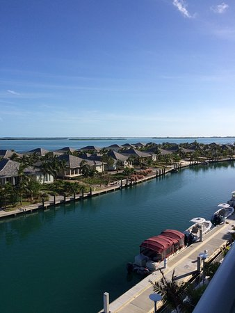Lagoon view from our rom at Resorts World Bimini