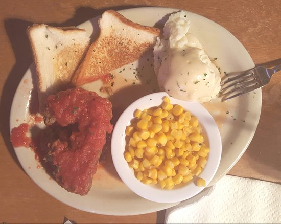 West, TX: Meatloaf lunch special! Moist and delicious