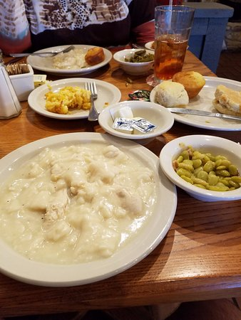 LaGrange, GA: Chicken and dumplings with sides