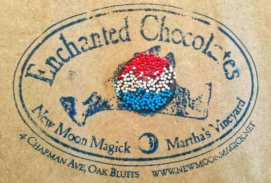 Oak Bluffs, MA: Uncle Sam Nonpareils taking center stage for Most Patriotic chocolate of the year!