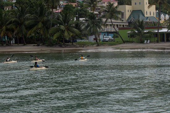 Laborie, St. Lucia: on their way back