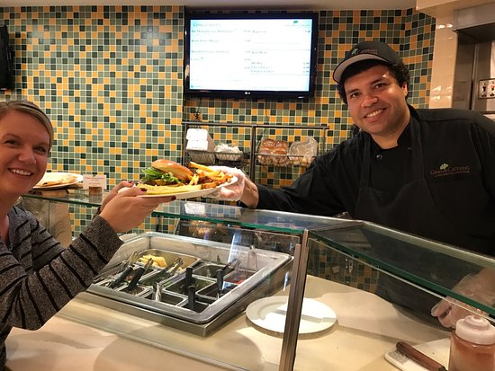 Lisle, IL : Anthony the Chef at the Cafe-serving up the most delicious food from the grill....