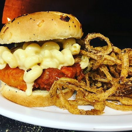 Marion, OH: Cpt Dave! Pub Mak and Chicken tenders on a toasted onion bun