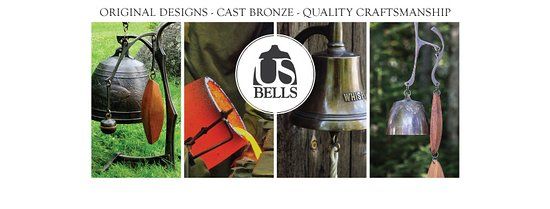 Original designs of cast bronze wind and doorbells made in Prospect Harbor, Maine.