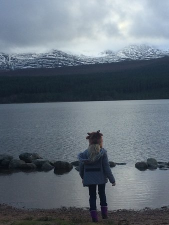 Aviemore, UK: Our daughter admiring the view