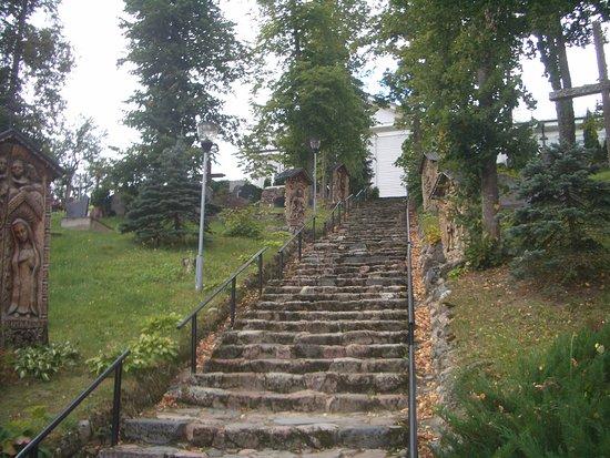 Alytus County, Litauen: scalinata di accesso