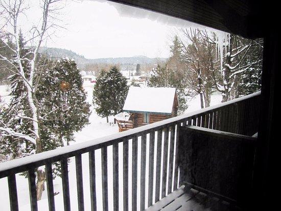 Wakefield, Canada: Winter view from balcony