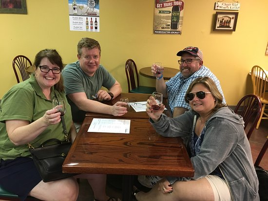 Aspirations Winery : Enjoying some Swamp Juice!  Excellent wines.