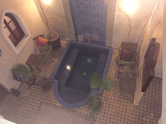 Riad Jonan Indoor Plunge Pool From Above