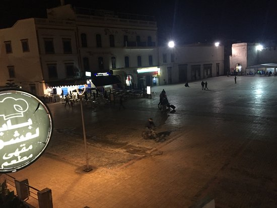 bab laachour: View of the Square from the Terrace