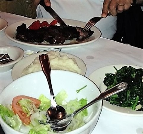 Elmhurst, NY: Our delicious dinner of skirt steak, chimichurri, whipped potatoes, and salad