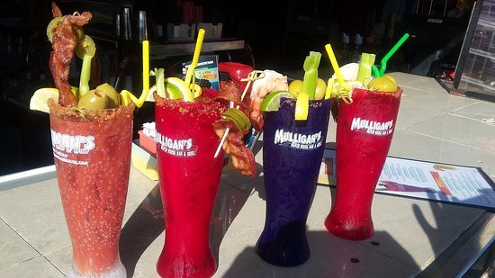 Jensen Beach, FL: Bloody Mary's at Mulligan's Beach House Bar & Grill!!