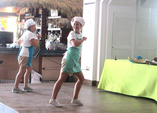 Instructors Leading Us In Salsa Dance Instruction Mazatlan Mexico
