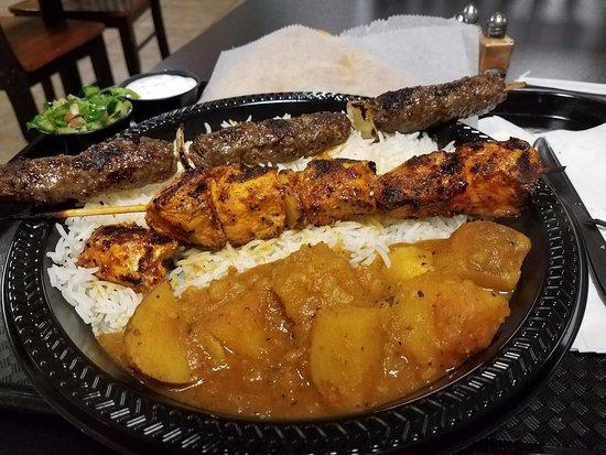 Maza Kabob: Chicken and Lamb Kabobs