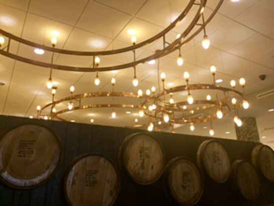 Hotel bar decor with Kentucky Whiskey Barrel wall art. - Picture of ...