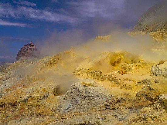 Bay of Plenty Region, Neuseeland: Sulphur vent