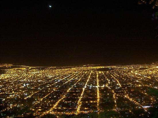 Ciudad De Salta Vista Nocturna Desde El Cerro San Bernardo Bild