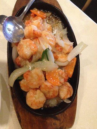 Ying Wah: Garlic prawns