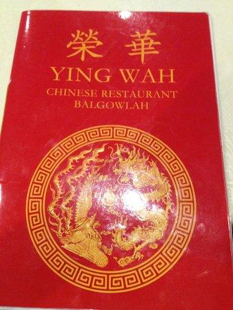 Ying Wah: Menu