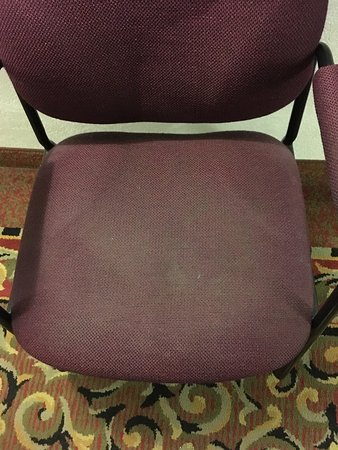 Super 8 Hinton : The chairs in all 10 rooms our team booked were some version of this nastiness